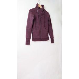 Lululemon bordeaux drama cozy cuddle jacket 4